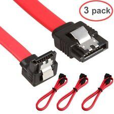 3 Pcs Right Angle SATA Cable Serial ATA Data Lead Locking Latching S-RA 45cm