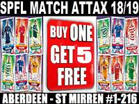 Match Attax spfl SPL 2017//18 17//18 #217-306 Brechin City a St Mirren