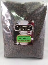 5 LBS FRESH ROASTED TO ORDER COLOMBIAN SUPREMO HUILA 100% ARABICA COFFEE BEANS