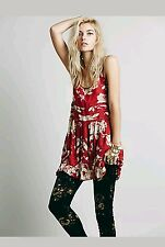 NEW FREE PEOPLE VOILE AND LACE TRAPEZE SLIP DRESS Antique Rose MEDIUM
