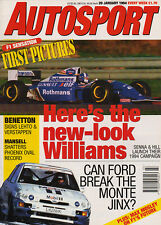 Autosport 20 Jan 1994 - Rubens Barrichello, Coulthard launches Williams, Hill.