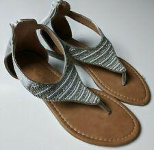New listing Eddie Marc Kids Sandals Shoes Size 3 Silver & White Sparkles