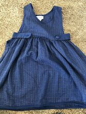 Vintage Rare Editions Girls size 5 Blue Dress - Missing Front Button
