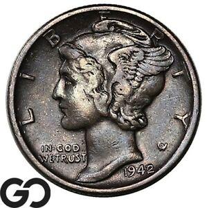 1942/1 Mercury Dime, 1942/41, Avidly Pursued Choice XF++ Key Date ERROR!