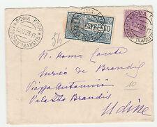 STORIA POSTALE 1928 REGNO AFFR. L.1,75 ESPRESSO ROMA 19/12 Z/1067