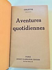 RARE FRENCH BOOK OF COLETTE WITH HER DEDICATION- AVENTURES QUOTIDIENNES 1924