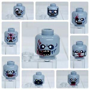 Lego Zombie Minifigure Head Monster Walking Dead Halloween Accessory