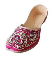 Women Shoes Leather Mojari Wedding Handmade Oxfords Pink UK 7.5-9.5 EU 42-44