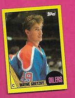 RARE 1987-88 TOPPS # A OILERS WAYNE GRETZKY  BOX BOTTOM CARD (INV# D1702)