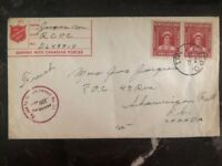 1945 Newfoundland Capo N 1 Military Salvation Army Censored Cover To Canada