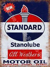 Vintage Garage Standard Motor Oil, 127, Diesel Petrol Old, Medium Metal/Tin Sign