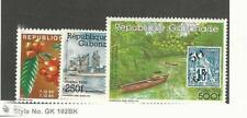 Gabon, Postage Stamp, #598-600 Mint LH, 1986 Canoe, Ship