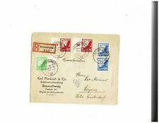 Germany 1937 registered cover Braunschweig to Leipzig C46-C48 airmail