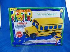 Alex Toys Crafts Papier Mache School Bus Activity Kit NOS Free Shipping!