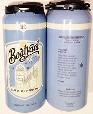 Boatyard Lake Effect Double IPA alum beer can 16oz 2016 unique empty bottom open