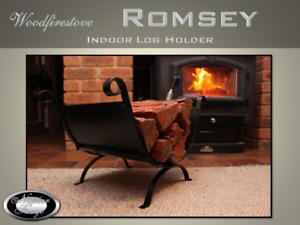 FIREWOOD FIREPLACE Indoor Log Rack / FIREWOOD STORAGE Wood Heater ROMSEY BLK