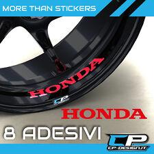 Logo adesivo per cerchi moto HONDA X8 CBR VTR VFR HORNET  strip