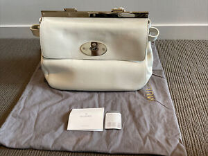MULBERRY Small Suffolk Handbag Off White