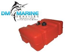 Low Profile Marine Fuel Tank 45L with Gauge - Large Capacity Topside Fuel Tank