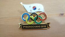 Pyeongchang 2018 olympic pin with korea flag