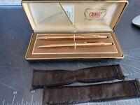 Vintage Cross pen & Pencil Set 14K GF 1/20
