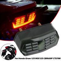Smoked LED Brake Tail Light Integrated Turn Signal Lamp For Honda Grom MSX 125