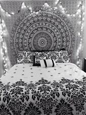 Indian Mandala Bedspread Hippie Tapestry Twin Wall Hanging Throw Rug Decor