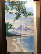Noren - Japanese Curtain - Mt Fuji in Summer - Polyester - Made in Japan F/S