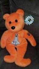 Celebrity Bear #34: Astronaut John Glenn, shows shuttle with tag NWT