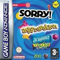 GameBoy Advance - 3 in 1: Aggravation + Sorry + Scrabble Junior Modul mit Anl.