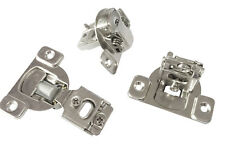 """50 PCS Overlay Cabinet Door Soft Close Hinges Hardware 1/2"""" Soft-closing Compact"""