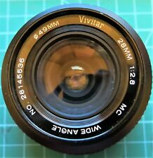 Vivitar 28mm f2.8 CanonC/FD Fit wide angle lens