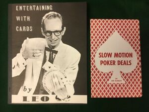 SLOW MOTION POKER DEALS Lin Searles + ENTERTAINING WITH CARDS Behnke OWEN MAGIC
