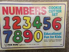 Metal Fox Run Number Set Cookie Cutter Set (3640) Set of 9 cutters Vintage 1984