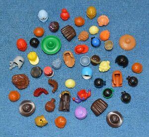 BULK LEGO MINIFIG HEADGEAR Lot of 70 MINIFIGURE Hats Helmets HAIR Auct: 2 of 7
