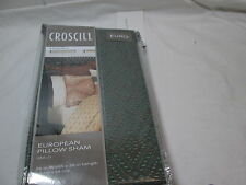New Croscill Home Arizona Euro European Pillow Sham 26x26 ~ Chocolate Nip