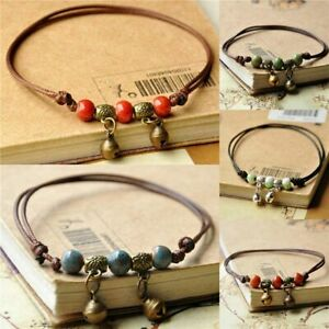 Jewelry Gift Beach Foot Chain Anklet Weave Rope Ceramic Bead For Women|Girls