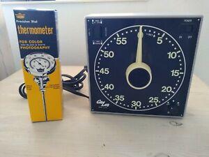 Gralab darkroom timer model 300 New plus Premier Thermometer New