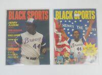 "Lot of 2 – Henry ""Hank"" Aaron Black Sports Magazine – Sept 1973 & June 1974"