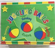 Multi Coloured Juggling Balls Set Of 12 Circus Toy Red Blue Yellow Green BNIB