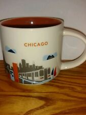 You are Here Starbucks Coffee Mug Chicago Monorail Navy Pier Ferris wheel