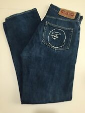 A Bathing Ape Bape Denim Size Medium M 34x31 Blue Jeans Dark Wash Shark