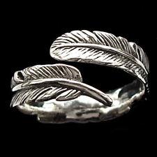 ' 925 Solid Sterling Silver regolabile Eagle PIUMA Finger Ring band L A R R006