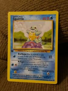 1st Edition Spanish Squirtle 63/102 Base Set - Common Pokemon Card - NM