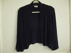 Kim & Co (QVC) Purple Shrug/Cardigan Size XL