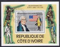 Elfenbeinküste Block 6, Uniforms History Independence USA 1978