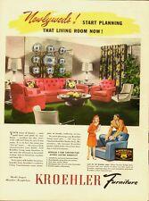 1959 Vintage ad for KROEHLER Furniture/50's household Fashions (060513)
