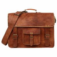 Men and Women Genuine Real Leather Vintage Handmade Crossbody Messenger Bag