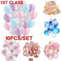 "10pcs 12"" Confetti Latex Balloon Helium Birthday Wedding Hen Party Baby Shower"