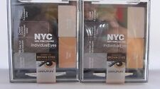 2 x NYC Individual Eyes Created For Brown Eyes #941 Smokey Browns !2